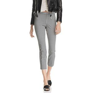Theory Gingham Plaid Cropped Skinny Pant